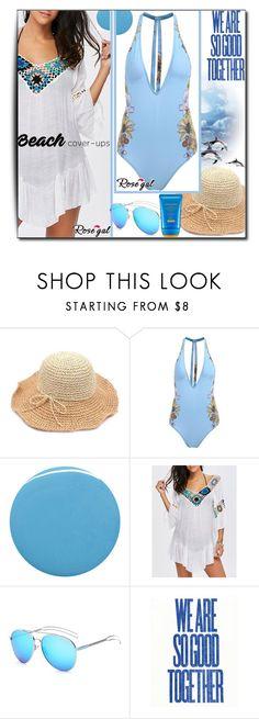 """Blue Swimwear by Rosegal 51/II"" by esma178 ❤ liked on Polyvore featuring Deborah Lippmann and Shiseido"