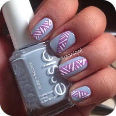 Essie - Licacism and Play Date tribal nail art