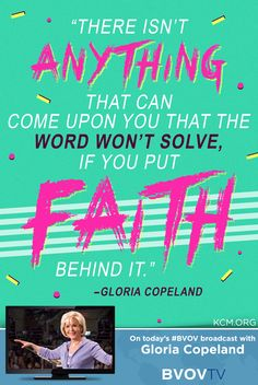 There isnt anything...the Word won't solve if you put faith behind it. - Gloria watch the #BVOV today: http://kennethcopelandministries.tumblr.com/post/115059471157/get-the-mp3-podcast-of-this-episode-free-on