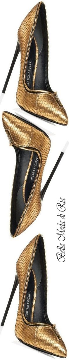Tom Ford Zipper Trim Python Pump