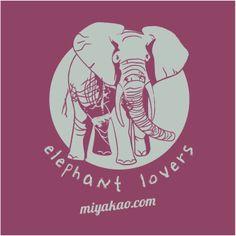 motivo elefante camiseta burgundy http://www.miyakao.com/es/camisetas.html