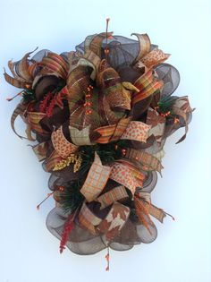 Fall swag with seed berries and floral by WreathsEtcbyJulianne