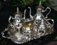 Silver Coffee and Tea Service Set by F. B. Rogers - 5 pieces
