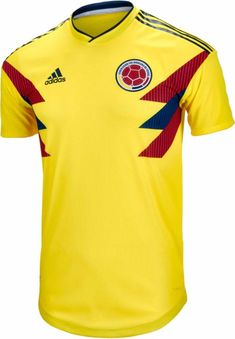 945a2ed2f6a1d 2018 19 adidas Colombia Authentic Home Jersey. Hot stuff at www.soccerpro.