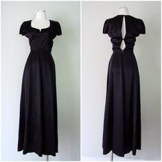 vintage French designer long black 1990s Michel Klein