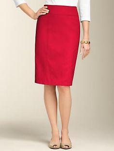 Talbots - Cotton Piqué Pencil Skirt | | Misses