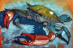 Sketchy Bluecrabs, painting by artist Rick Nilson Source by rjvivmatthews painting Crab Art, Fish Art, Crab Painting, Art Painting Gallery, Watercolor Fish, Beach Art, Painting Inspiration, Drawings, Artwork