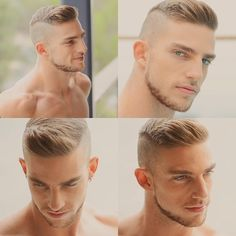 Shaved, long ontop, hairstyle, men's hair.