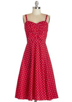 Humbly Haute Dress in Red. This item is a new colorway of one of your favorite Be the Buyer picks, found exclusively at ModCloth! #red #modcloth