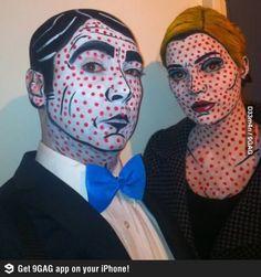 Pop art costumes and makeup! Book Character CostumesComic ... & Pop Art Halloween Makeup Ideas | Pinterest | Halloween makeup ...