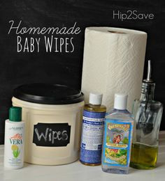 Video: How to Make Homemade Baby Wipes - Cloth diapers - Bebe Homemade Wipes, Homemade Baby, Natural Baby Wipes, Diy Bebe, Baby Supplies, Baby Kind, How To Make Homemade, Diy Cleaning Products, Cleaning Supplies