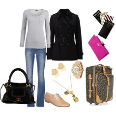 Simple Airport Style, created by patricia-teixeira on Polyvore