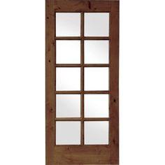 Krosswood Doors 30 In. X 80 In. Krosswood French Knotty Alder 10 Lite