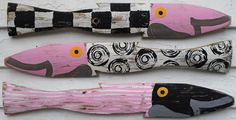Midnight Baby Pink Fence Fish S/3