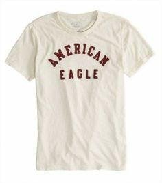 dfd195500 Camiseta American Eagle Men's Ae Applique Graphic T-Shirt Natural 0181-3933  #Camisetas