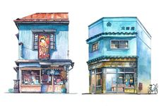Tokyo_Storefront_Illustrations_of_Old_Tokyo_Shopfronts_by_Mateusz_Urbanowicz_2016_05
