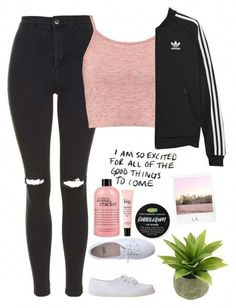 A fashion look from August 2015 by thelonelyheartsclub featuring Boohoo, Topshop, adidas Originals, American Apparel, philosophy y Polaroid Cute Lazy Outfits, Cute Outfits For School, Cute Swag Outfits, Teenage Girl Outfits, Girls Fashion Clothes, Sporty Outfits, Teen Fashion Outfits, Teenager Outfits, Outfits For Teens