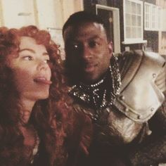 amymanson: Look who I found wandering set today...a knight in shining armour!