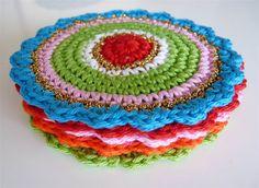 Crochet coasters on Etsy