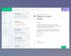 Mail client app by Jakub Antalík  Follow us @humani.design to get the most fresh UI/UX design inspiration   #ux #ui #uidesign #uxdesign #userinterface #userexperience #design #graphicdesign #app #appdesign #dailyui #dailyuichallenge #light #mail #client #green #purple #dribbble #behance #uxd #materialdesign #fresh #clean #inspiration #webdesign #website #html #css #javascript #jquery