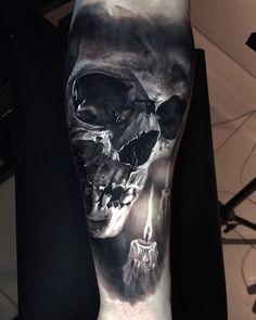 "Gefällt 9,620 Mal, 166 Kommentare - Eliot Kohek (@eliot.kohek) auf Instagram: ""#realistic #skull #tattoo @fusion_ink @killerinktattoo @hustlebutterdeluxe…"""