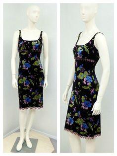 Vintage 90s Betsey Johnson Dress Crushed Velvet by SprightlyVogue, $54.00
