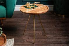 Malý konferenčný stolík 41cm. Living Room Modern, Living Room Designs, Living Room Decor, Simply Clever, Design Tisch, Round Table Top, Interior Decorating, Interior Design, Acacia Wood