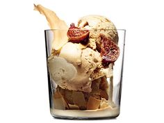 Coffee-Cardamom Ice Cream with Figs Recipe  at Epicurious.com