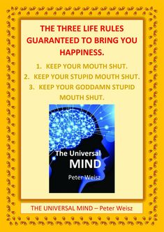 Keep Your Mouth Shut, You Stupid, Life Rules, Latest Books, Books To Read, Bring It On, Mindfulness, Amazon, Reading