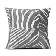 "20"" X 20"" Gray & White Zebra Microfiber Throw Pillow Cover BH DECOR http://smile.amazon.com/dp/B007ZIFMI0/ref=cm_sw_r_pi_dp_yD93ub070CZFH"