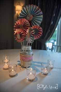 Centerpiece at Saphire Estate Wedding