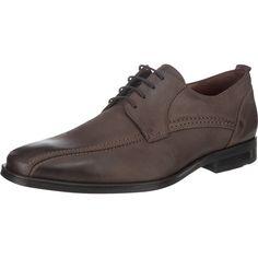 Die weiche Glattlederoberfläche der LLOYD Miller Business Schuhe ist mit dekorativen Ziernähten versehen. Die weich gepolsterte Decksohle kann nach Bedarf herausgenommen werden.   - Zehen- und Fersenbereich verstärkt - Wechselfußbett  - Verschluss: Schnürung - Schuhspitze: Rund - Schuhweite: F  Obermaterial: Leder (Glattleder) Futter: Leder, Textil Decksohle: Leder Laufsohle: Sonstiges Material...