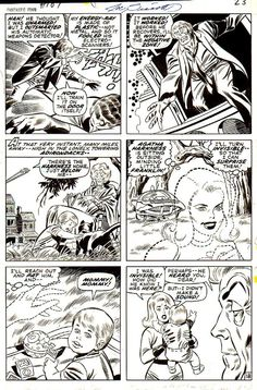 Fantastic Four #107 Comic Art