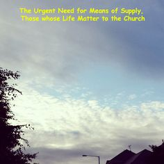 The Urgent Need for Some who are Means of Supply to the Church [read more at www.agodman.com]