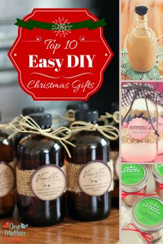 Easy DIY gifts that people will actually want to receive (several are booze!)