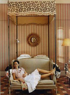 Carolina Herrera bedroom in Madrid apartment