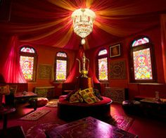 genie in a bottle #meditation room, #draped ceiling, indian theme, moroccan theme