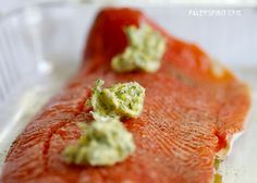 Wild Salmon with Lemon Dill Sauce. Whole 30 and Autoimmune paleo compliant. (use ghee or olive oil)
