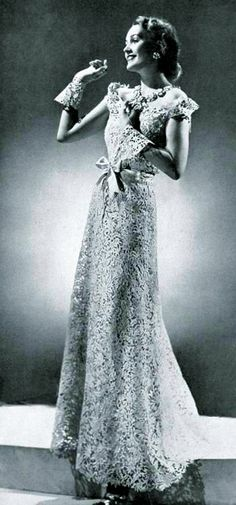 Chanel dress - 1938 - Design by Gabrielle 'Coco' Chanel - @~ Mlle