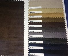 New Corduroy Fabrics are now available. Select your jeans from http://www.sqjeans.com/customjeans.html
