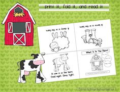 Print it, fold it, and read it farm animal minibook
