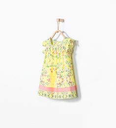 ZARA - KIDS - Printed dress with border