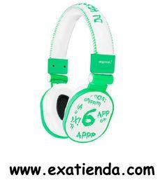 Ya disponible Auricular Approx dj verde graffiti   (por sólo 23.99 € IVA incluído):   -Auriculares DJ Graffiti Verde Turquesa -Cascos auriculares para Dj con aro forrado en piel y bordado. -Cuenta con 1,5 m de cable de nylon. -Gran aislamiento para una buena acústica. -Formato graffiti, juvenil y desenfadado. -Cascos con dibujos en relieve.  • Con 2 conectores jack stereo de 3,5 mm para la conexión a su PC/ portátil • Cable: 1,5 metros • Regulador de volumen • Impe