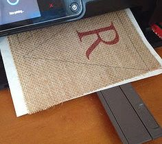 How to Print on Burlap With an Inkjet Printer (This is a Game Changer)