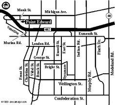 Road Map for Point Edward Arena Blue Devil, London Blue, Lacrosse
