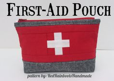 Make these cute Travel First-Aid Kits! Plenty of room to hold all your essentials, but small enough to slip inside a diaper bag, purse, or