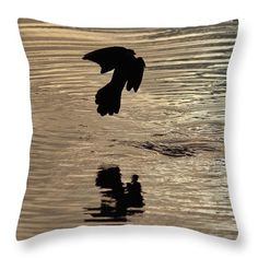 Bird Throw Pillow featuring the photograph Bird Silhouette by Cynthia Guinn