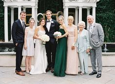 Great group photo  Emerald Green Wedding at William Aiken House  Read more - http://www.stylemepretty.com/2014/03/26/emerald-green-wedding-at-william-aiken-house/