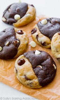 chocolate chip cookies swirled with chocolate white chocolate cookies!