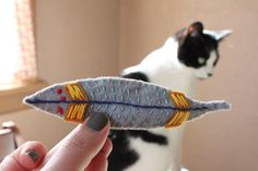 on my honor...: DIY: Thanksgiving inspired cat toys!